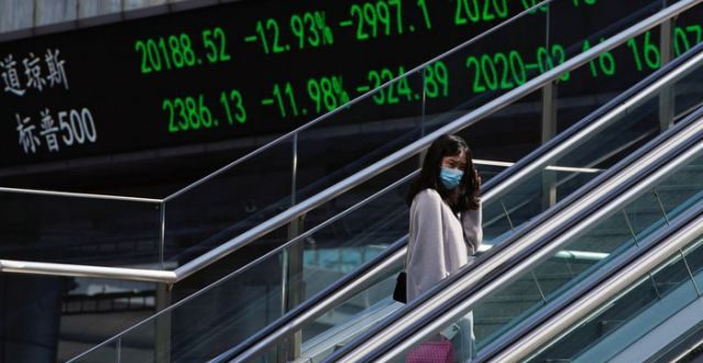 Asian shares step back, oil rebounds in volatile trade
